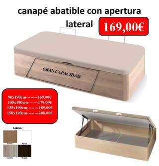 canape abatible apertyra lateral