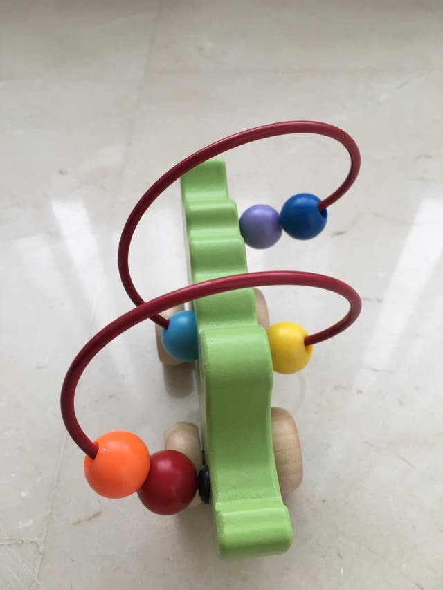 Juego bola colores madera