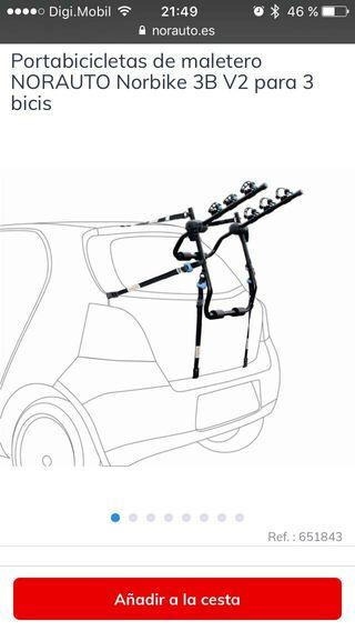 Soporte transportar bicicletas