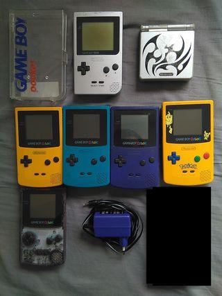 Consolas Nintendo Gameboy y GBA