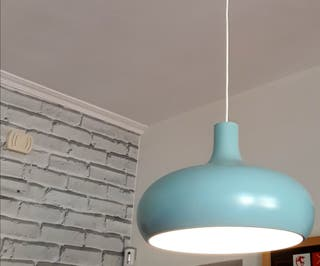 Lámparas azul turquesa de chapa