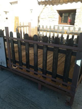 terraza exterior de madera