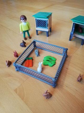 Playmobil granja conejos