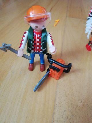 Playmobil leñador