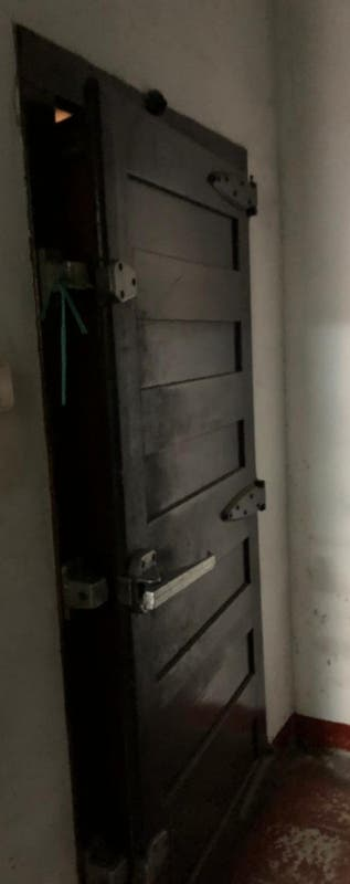 Puerta antigua d Cámara Frigorífica