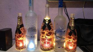 Botellas con luz