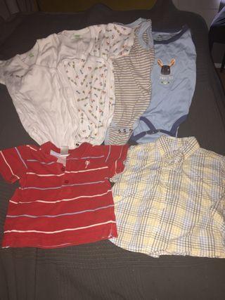 Lote bodys y jerseys 9/12 meses