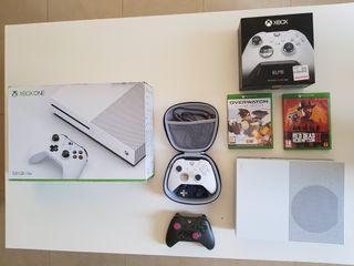 Xbox One s + mandos + juegos