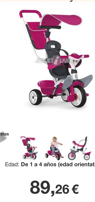 Triciclo rosa bebe