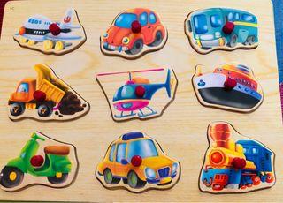 Puzzles encajables de madera