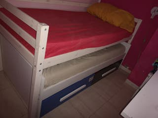 cama nido doble con dos cajones