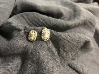 Pendientes plata egipcios escarabeos