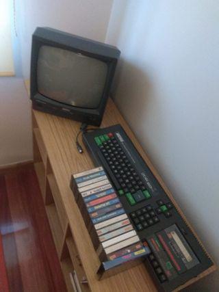 Amstrad CPC 464 color con varios juegos