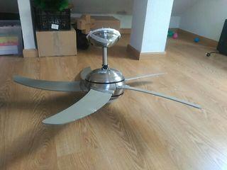 lámpara ventilador con mando distancia