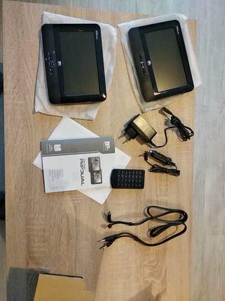 Reproductor/pantallas para cabeceros de coche.