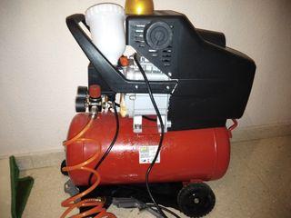 compresor de aire de 24 litros 8 bar
