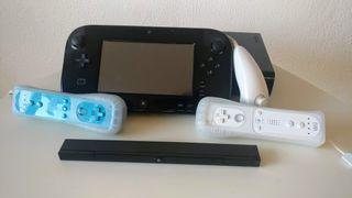 Wii U con accesorios y 8 juegos