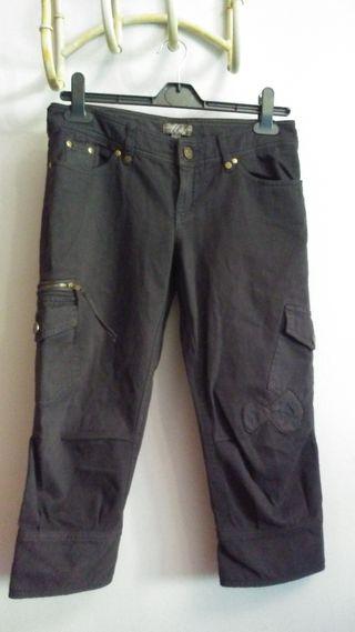 Pantalón marrón mujer explorador Mango talla m