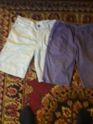 pantalones cortos 2 unidades t.15 años
