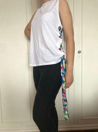 camiseta manga sisa y Pantalón