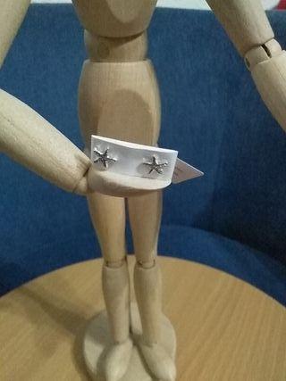 pendiente estella marina plata 925