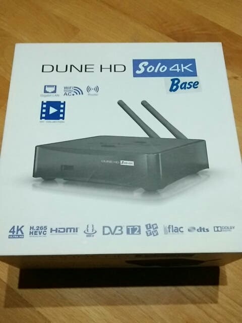 Reproductor MultiMedia Dune HD SOLO 4K BASE