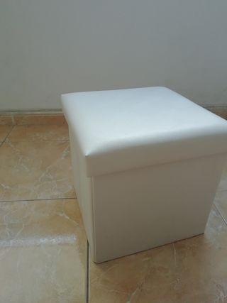Caja para sentarse y para almacenar