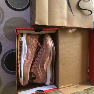 Nike air max 97 cuero oro rosa