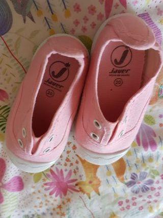 zapatillas núm.20 rosa medio nuevas lonas victoria