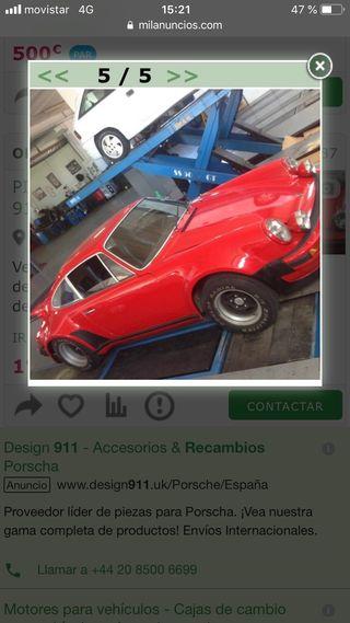 Capo delantero metal porche 911 clasico