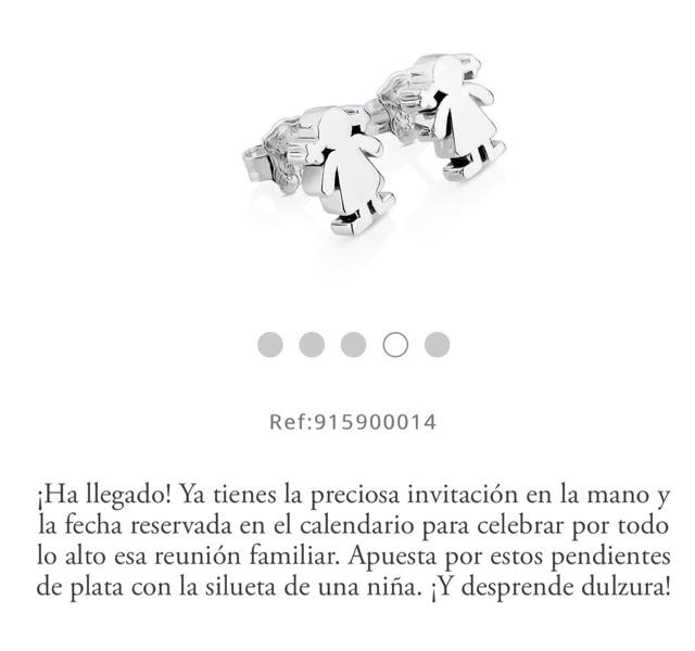 8e7e3414a828 Pendientes sweet dolls de Tous de segunda mano por 50 € en A Graña ...