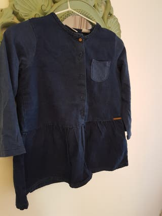 vestido vaquero ZARA KIDS 12/18 azul denim falda
