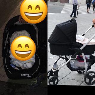 Vendo coche de bebé marca asalvo
