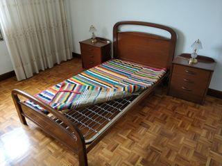 muebles dormitorio: cama + mesillas