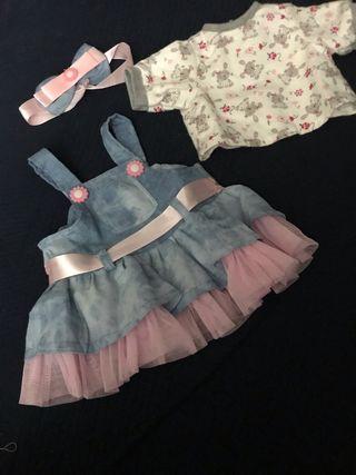 Vestido Bebe reborn de 50-57 cm
