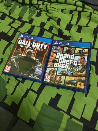 Gta V, Call of Duty Black Ops III
