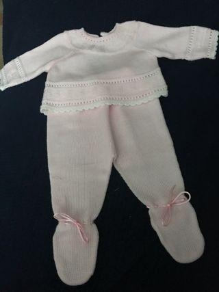 Traje bebé o reborn 55cm. Talla 3