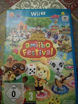 Juego Wii u Amiibo Festival Animal crossing