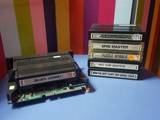 6 cartuchos originales Neo Geo Mas base