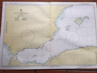 Carta náutica del Mar Mediterráneo