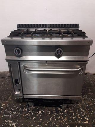 Cocina industrial a gas 2 fogones