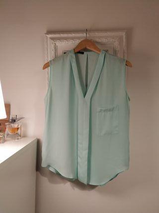 Blusa Suite Blanco verde menta