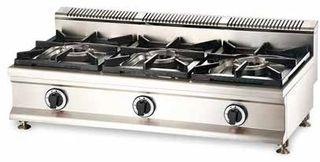 Cocina a gas 3 fuegos sobremesa
