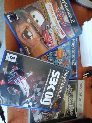 PS2 más accesorios más juegos
