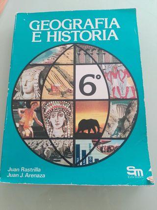 Libro geografía e Historia 6°primaria
