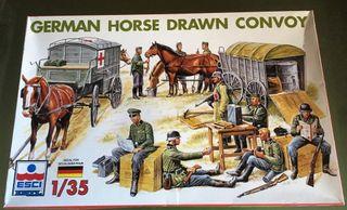 Maqueta ESCI 1/35 - GERMAN HORSE DRAWN CONVOY