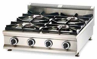 Cocina a gas 4 fuegos sobremesa