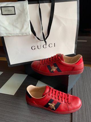 Zapatillas gucci rojas