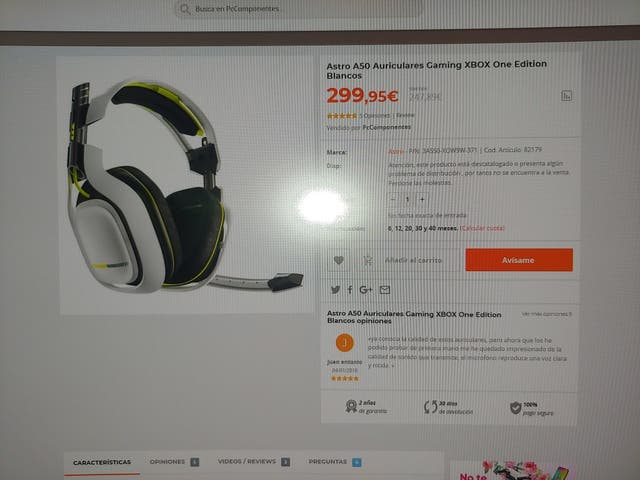 Auriculares Gaming Astro A50, Edicion X box y Pc