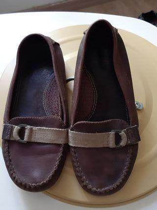 zapatos zara piel talla 37